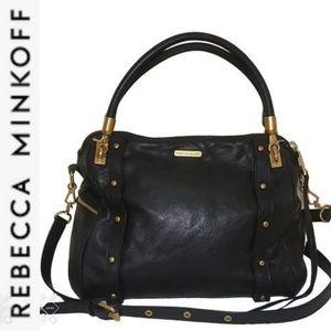 Rebecca Minkoff Black Leather Cupid Roomy Satchel